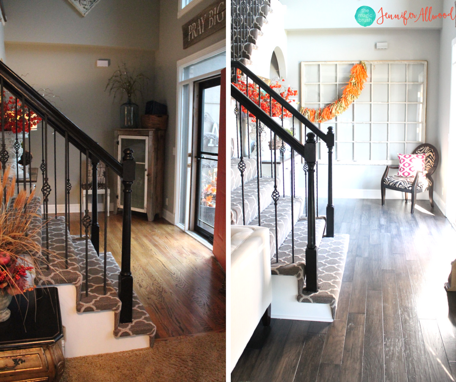 New Gray Hardwood Floors Before and After | Magic Brush