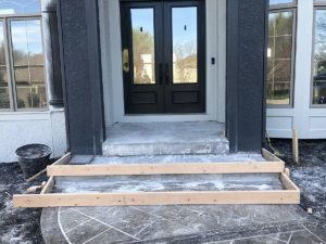 new bluestone steps being placed