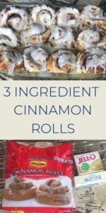 three ingredient cinnamon rolls