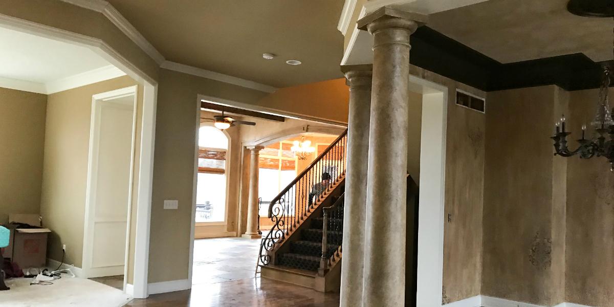 Interior Faux Columns Interior - Jennifer Allwood The Magic Brush