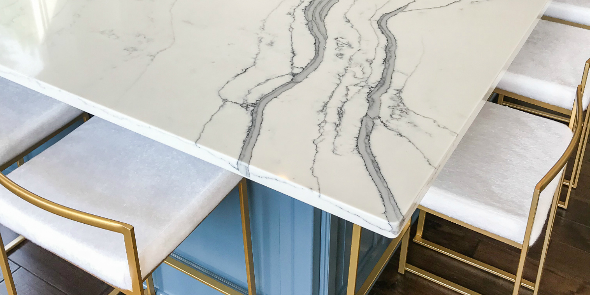 Our Gorgeous Faux Marble Quartz Countertops