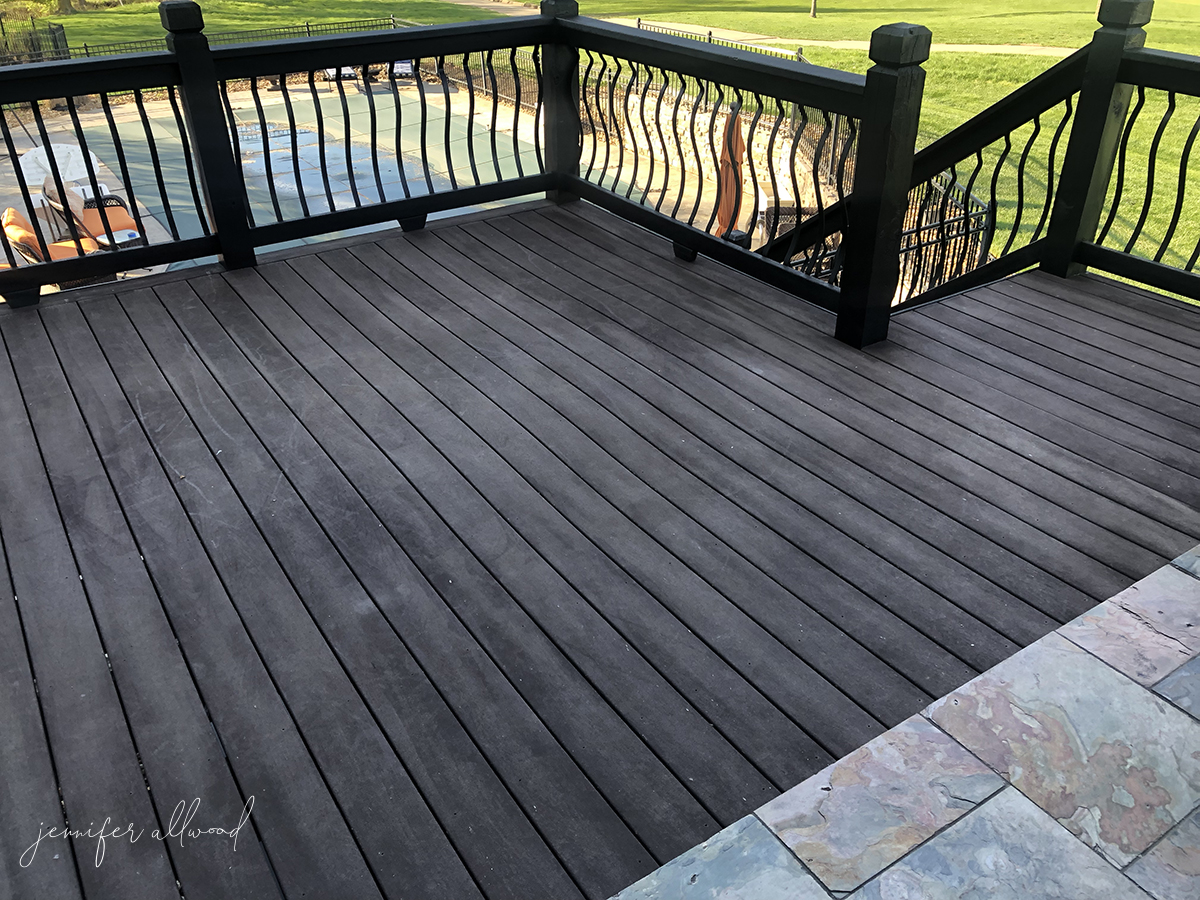 Painting Our Trex Deck Jennifer Allwood Home