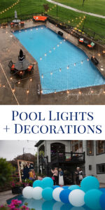 Blog post on pool lights and decorations