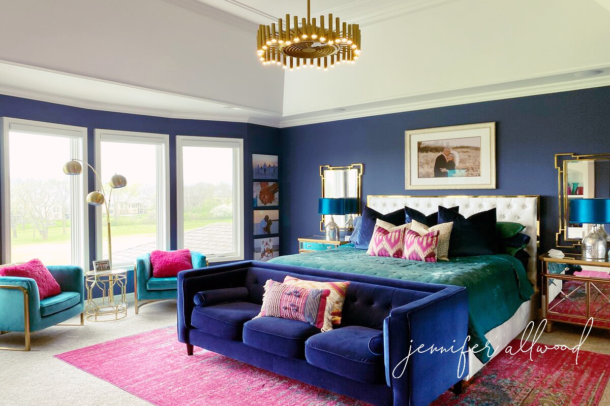 Bright and Bold Bedroom Remodel