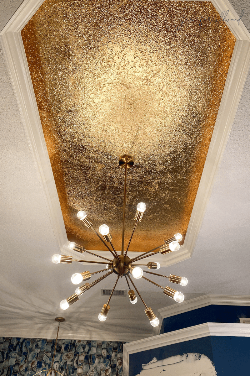 How to Gold Leaf a Ceiling
